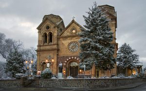 winter-at-st-francis-cathedral-in-santa-fe-new-mexico-dave-dilli-300x191